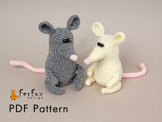 Crochet Mouse Pattern Amigurumi For Beginner Mouse Pdf Pattern Etsy