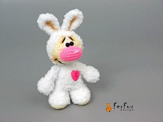 Stuffed Coniglietto Coniglio Coniglio Bianco Woodland Peluche Etsy