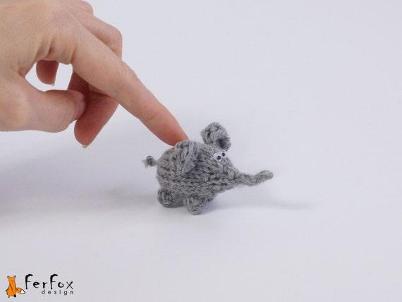 Miniatur Elefanten Kleine Elefanten Puppe Plüsch Mini Elefant Gefüllte Mikro Elefanten Die Hand Miniatur Puppenhaus Miniatur Häkeln Kunst Puppe