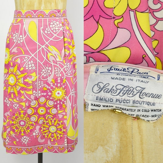 1960's Pink Emilio Pucci Wrap Skirt