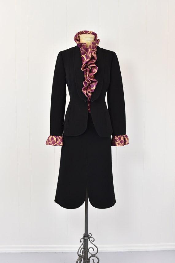 1980s Pauline Trigere Two Piece Suit - image 2