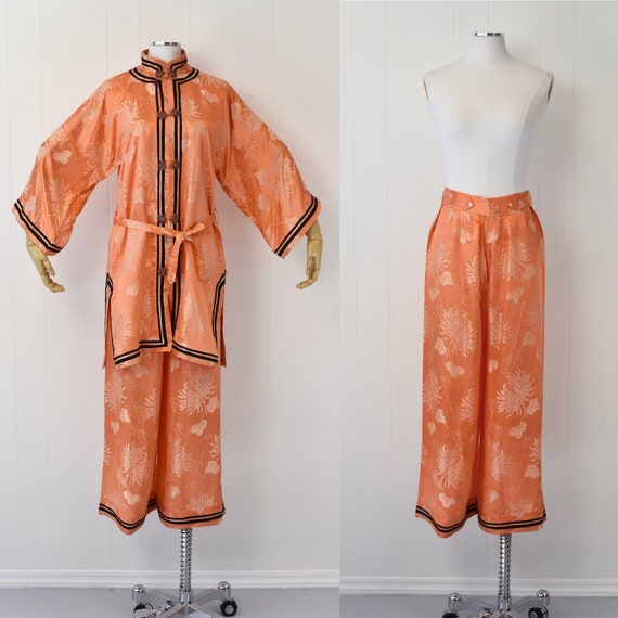 1940's/1950's Asian Loungewear Pajama Set