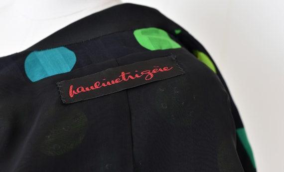 1980s Pauline Trigere Polka Dot Rhinestoned Jacket - image 9
