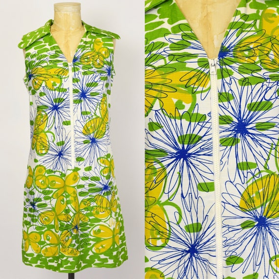 1960's Vera Butterfly Shift Dress