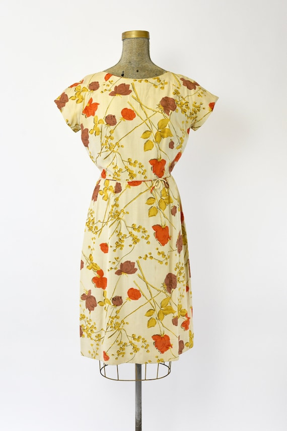 1950's Malia of Hawaii Rose Print Dress - image 2