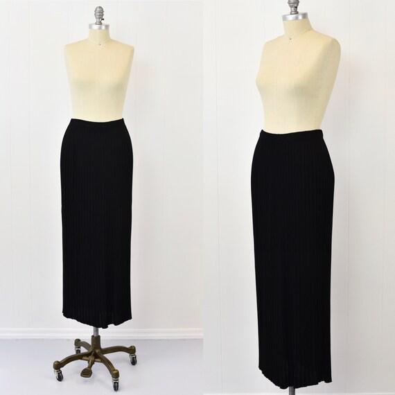 1980's Missoni Pleated Black Skirt