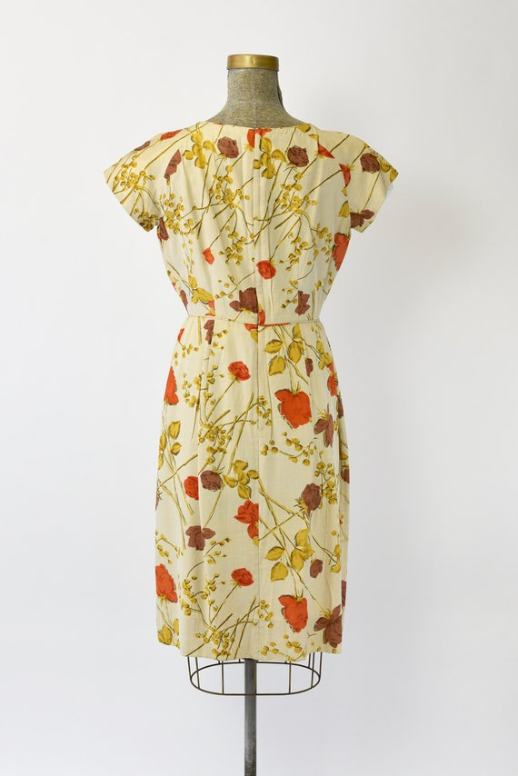 1950's Malia of Hawaii Rose Print Dress - image 3