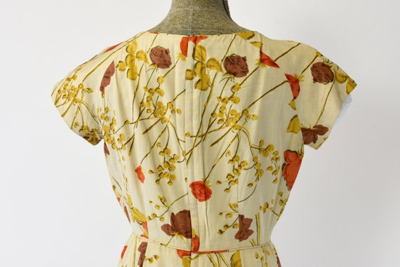 1950's Malia of Hawaii Rose Print Dress - image 5