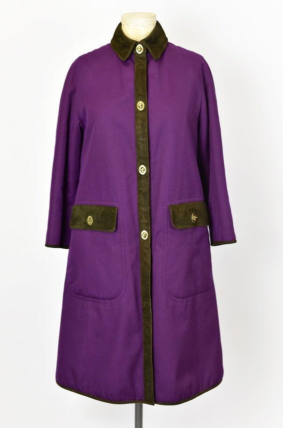 1960's Sills by Bonnie Cashin Purple Coat - image 2