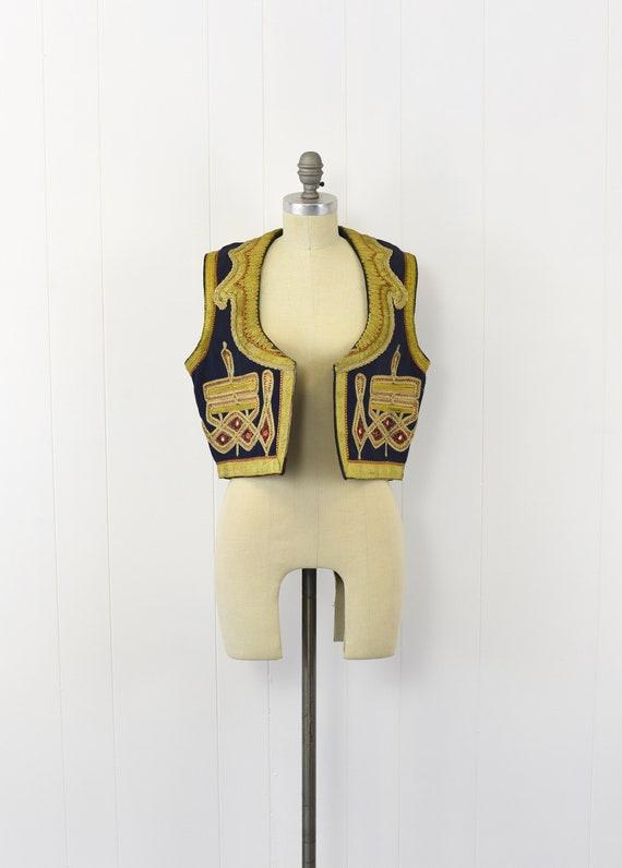 1960's Embroidered Mens Vest