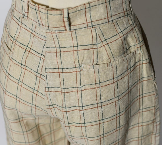 1930's/1940's Plaid Jodhpur Pants - image 5