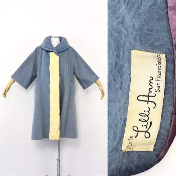 1960's Lilli Ann Blue Swing Coat