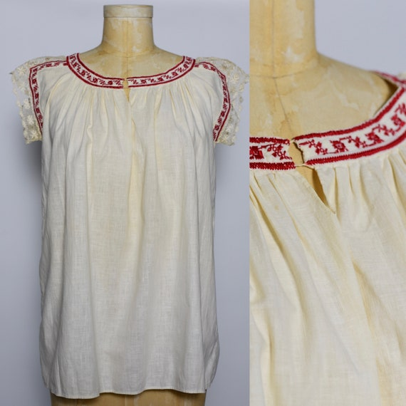 1930's Hungarian Hand Crocheted Blouse