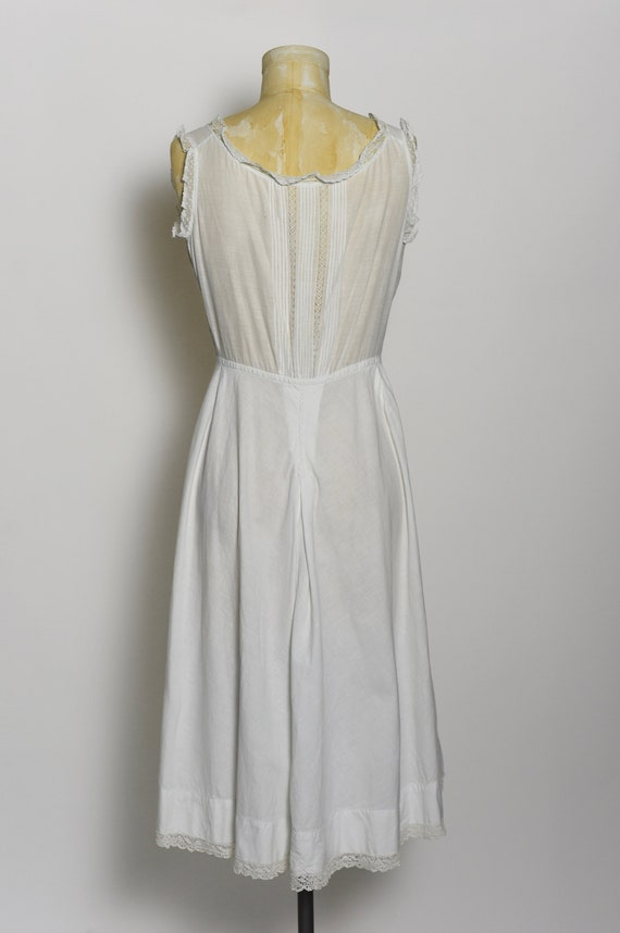 Antique Edwardian 1900's White Cotton Dress/Under… - image 5