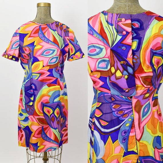 1960's Psychedelic Silk Dress