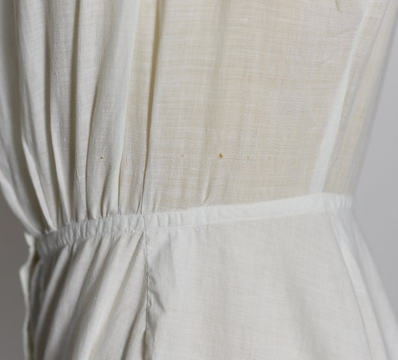 Antique Edwardian 1900's White Cotton Dress/Under… - image 8