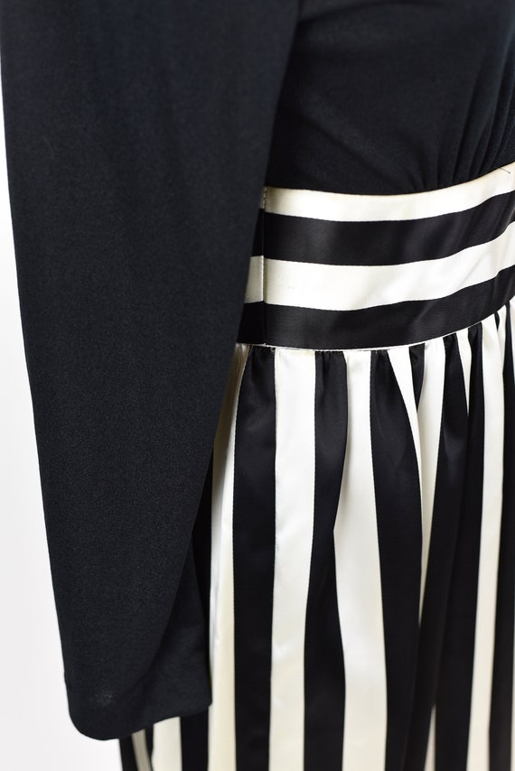 1970s Victor Costa Striped Dress Gown - image 5