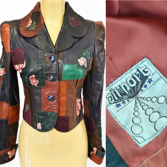 1970's Leather Patchwork Jacket