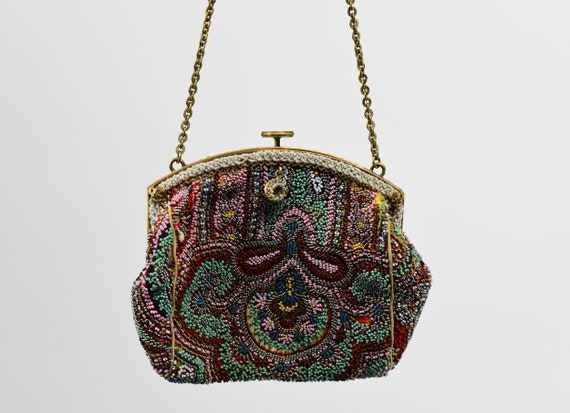 1930's Colorful Beaded Purse