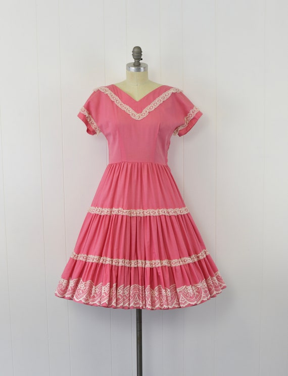 1950's Pink Patio Dress