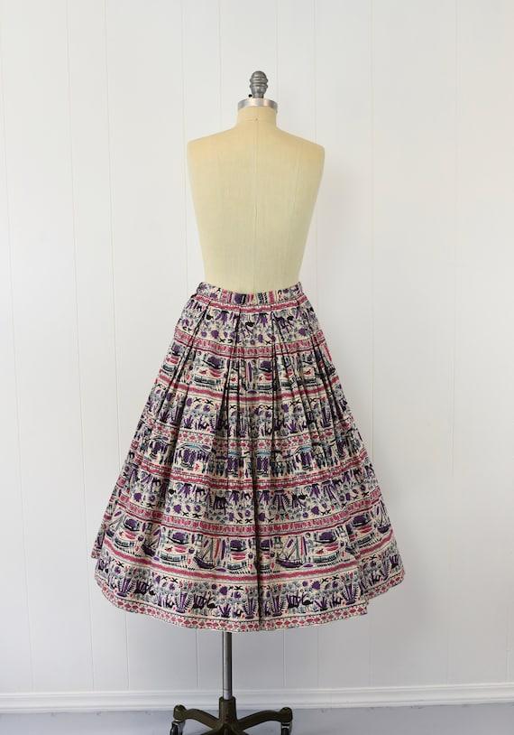 1950's Egyptian Novelty Print Skirt - image 5