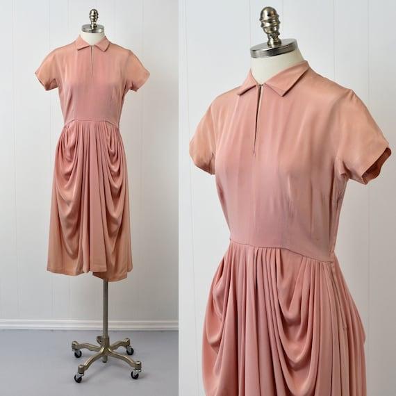 1940s Pink Ceil Chapman Dress