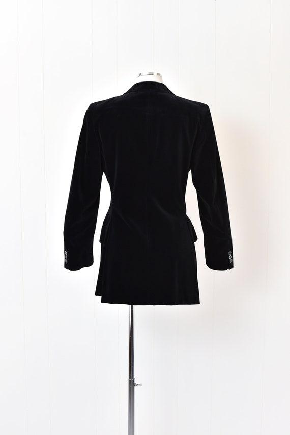 1970s Yves Saint Laurent Black Velvet Jacket - image 5