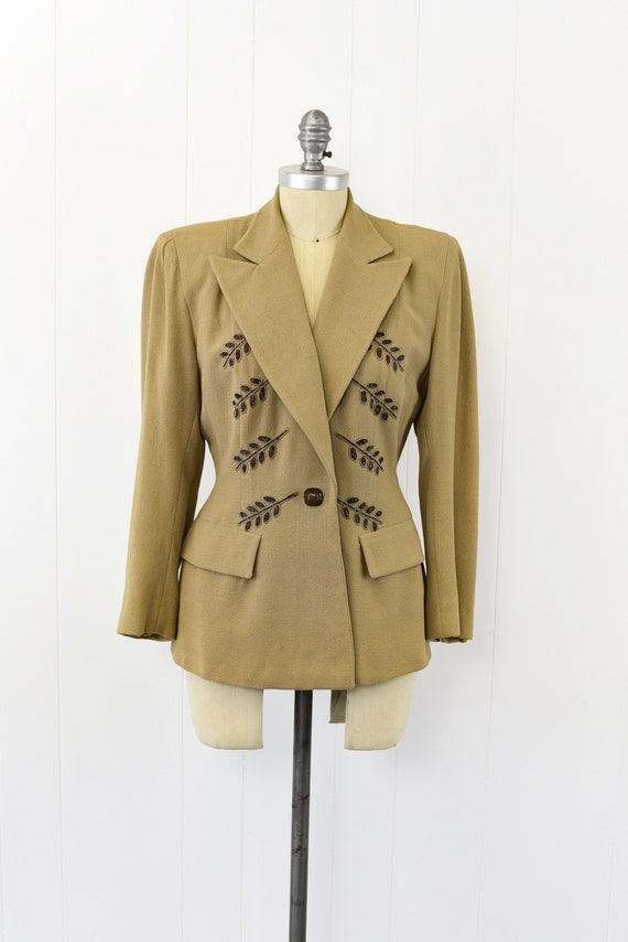 1940's Tan Beaded Jacket