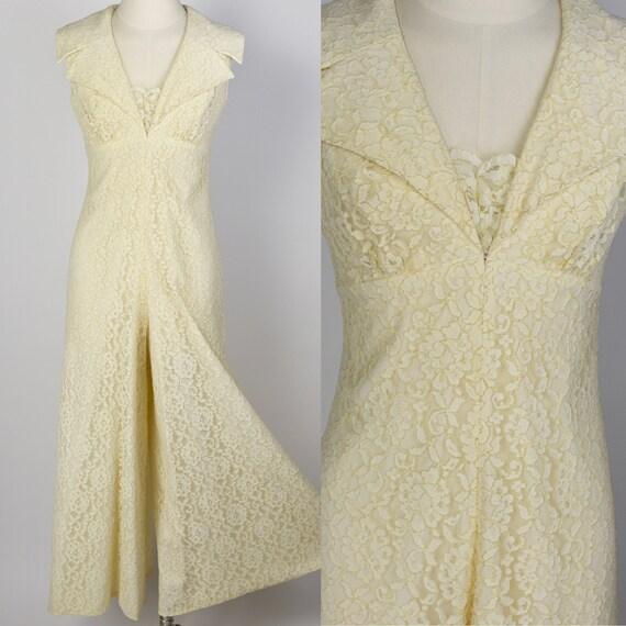 1960's Ivory Lace Jumpsuit
