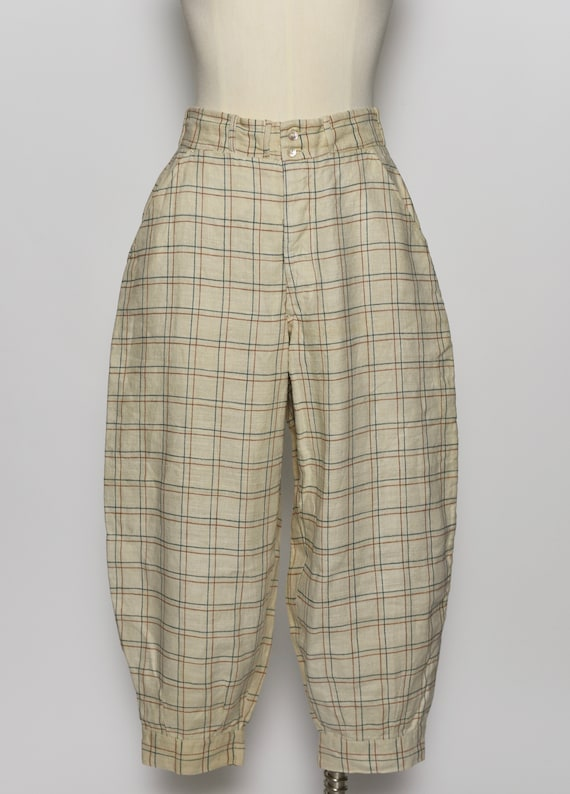 1930's/1940's Plaid Jodhpur Pants - image 2