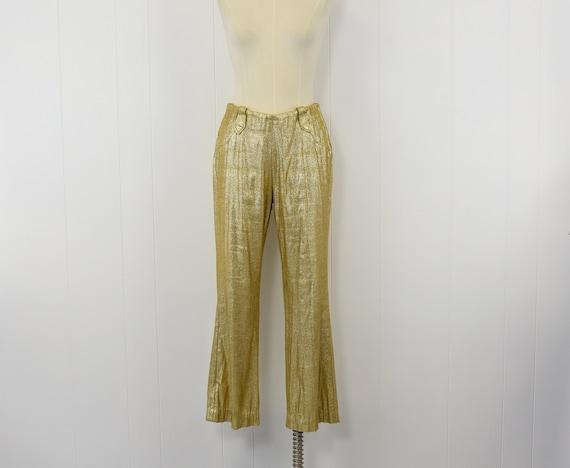 1950's Gold Lurex Western Wear by Lasso Pants
