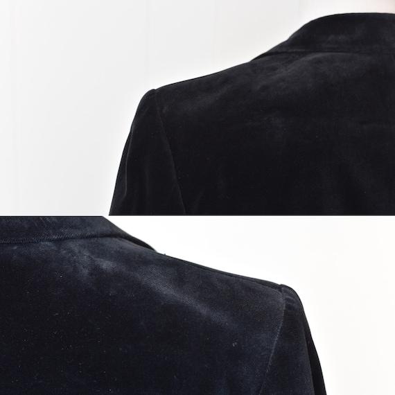1970s Yves Saint Laurent Black Velvet Jacket - image 8