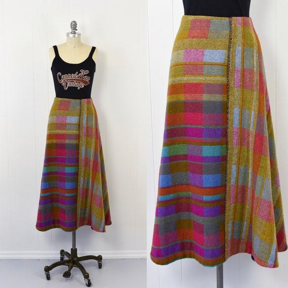 1960's Multicolored Woven Skirt