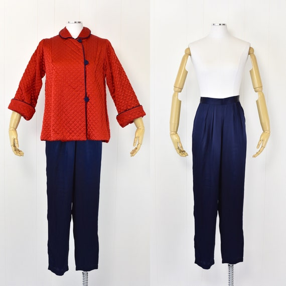 1940's Barbizon Quilted Loungewear Set
