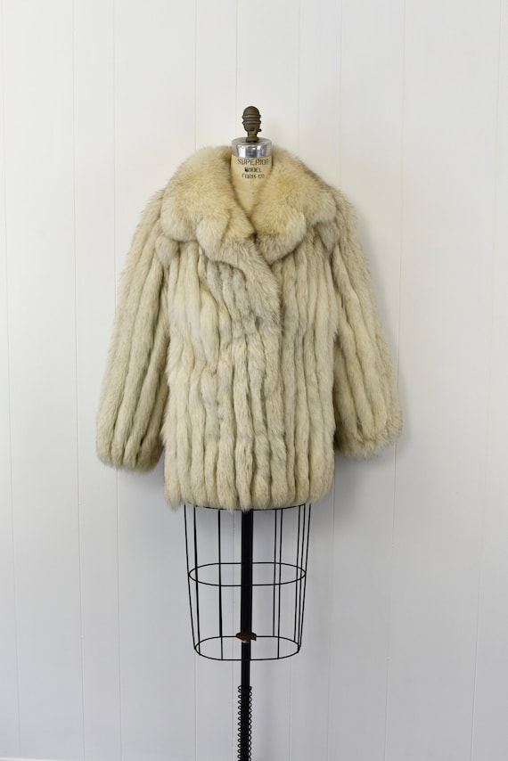 1970's Silver Fox Fur Coat