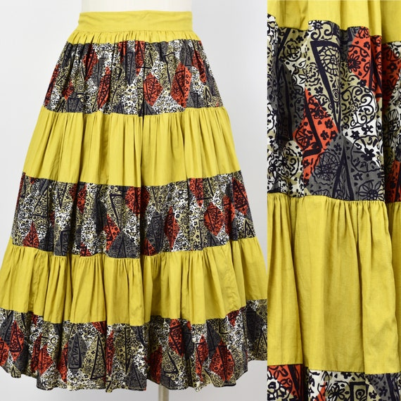 1950's Yellow Circle Skirt