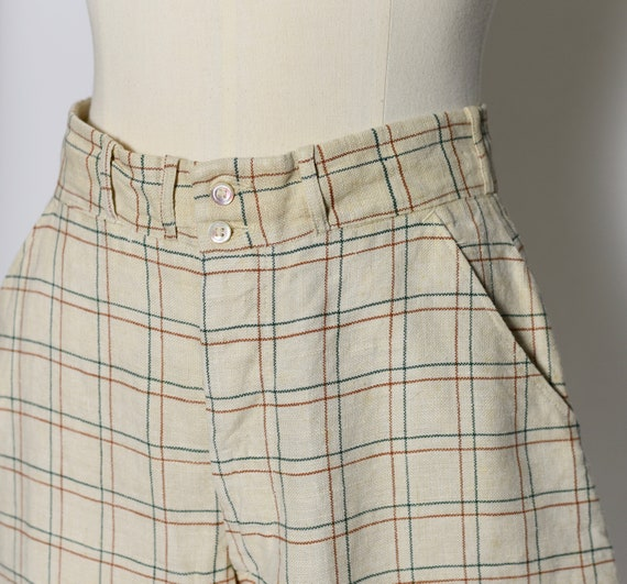 1930's/1940's Plaid Jodhpur Pants - image 4