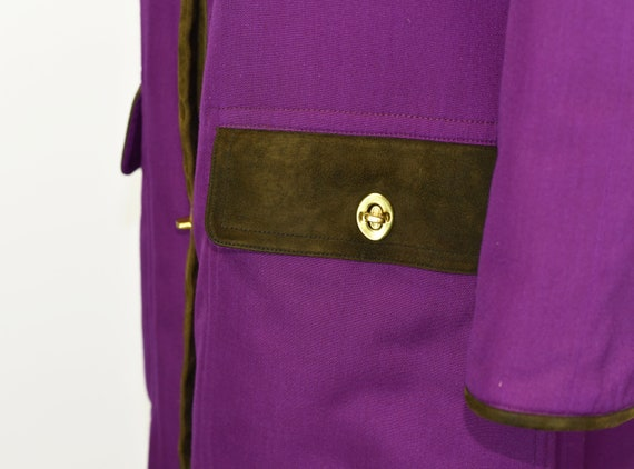 1960's Sills by Bonnie Cashin Purple Coat - image 5