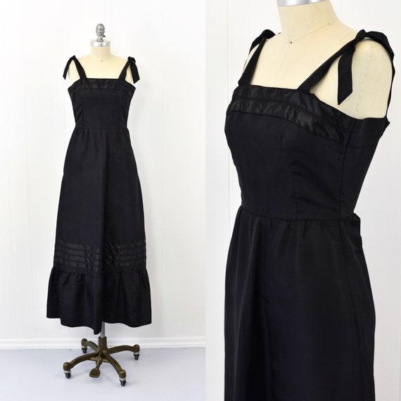 1950's Black Taffeta Gown