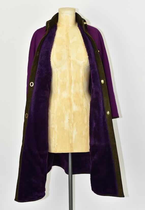1960's Sills by Bonnie Cashin Purple Coat - image 8