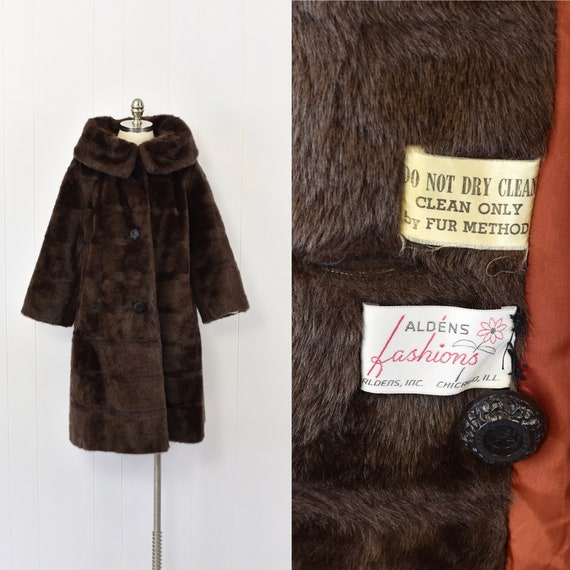 1960's Brown Faux Fur Teddy Bear Coat