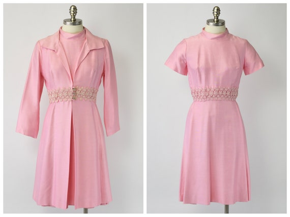 1960's Bubblegum Pink Dress & Jacket Set