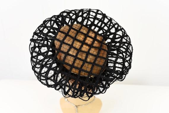 1960s Christian Dior Black Net Hat - image 7