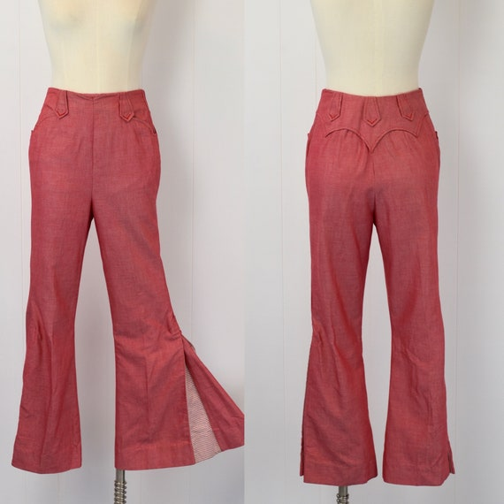 1970's Red & White Pants