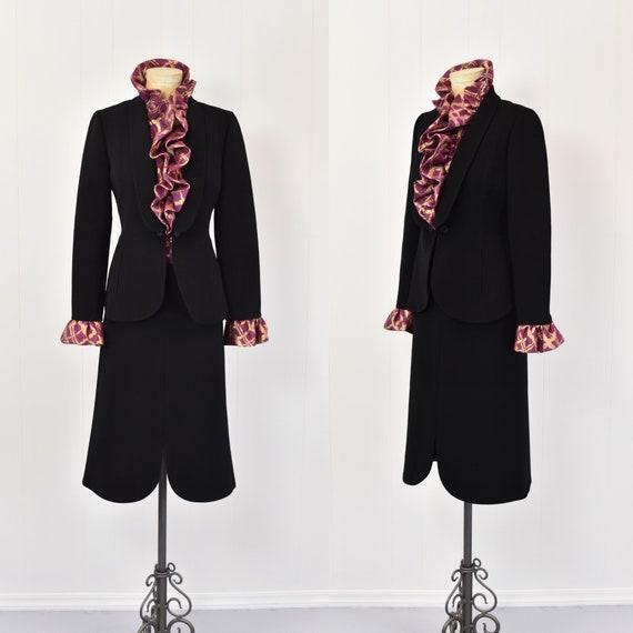 1980s Pauline Trigere Two Piece Suit - image 1