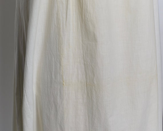 Antique Edwardian 1900's White Cotton Dress/Under… - image 10