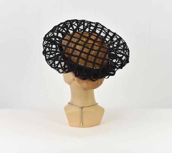 1960s Christian Dior Black Net Hat - image 6