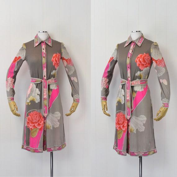 1970's Leonard of Paris Floral Dress