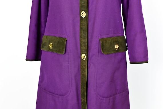 1960's Sills by Bonnie Cashin Purple Coat - image 3