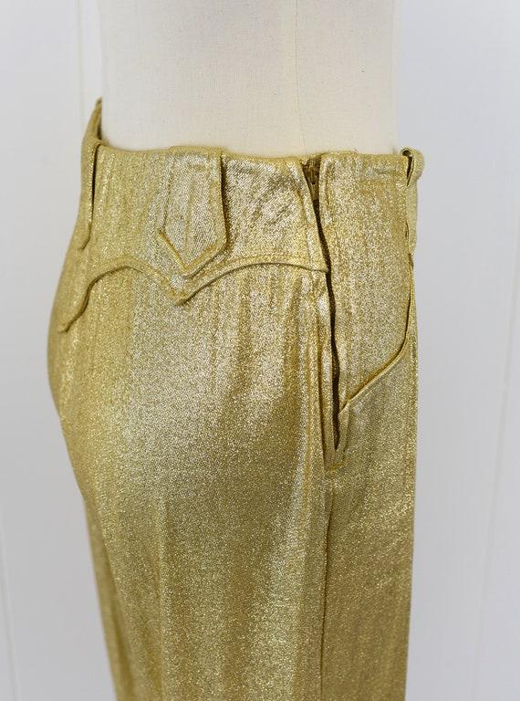 1950/'s Sculpted Gold Lurex Top sz S